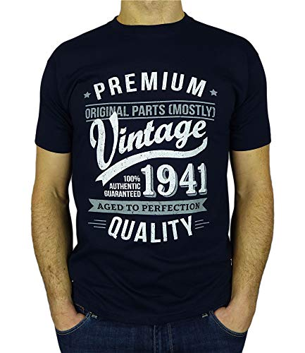My Generation Gifts Vintage Year - Aged To Perfection - Regalo di Compleanno per 80 Anni Maglietta...