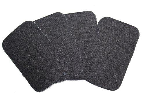 dalipo 05002 - Aufbügelflicken - Jeans 4er Pack, schwarz