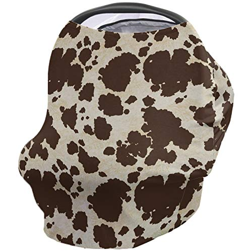 Baby Car Seat Nursing Cover Import cheap Breastfeeding Cowhi Scarf for Brown