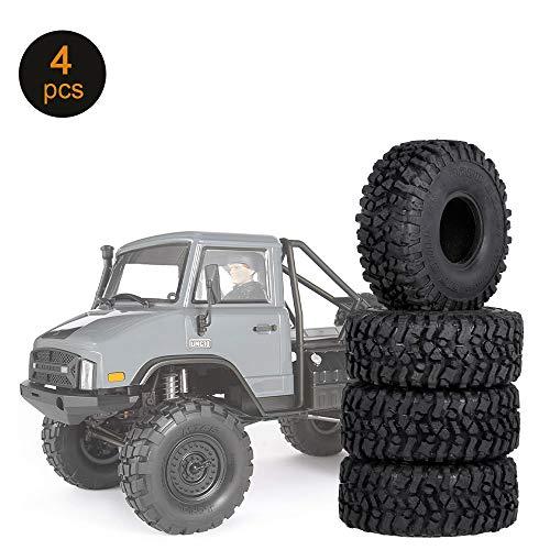 Ajcoflt 4PCS 2.2in und 1.9in Felge Universal RC Rock Crawler Reifen ohne Felge für 1/10 RC Rock Crawler Traxxas TRX-4 TRX-6 Axial Scx10 90046 RC Autoteile