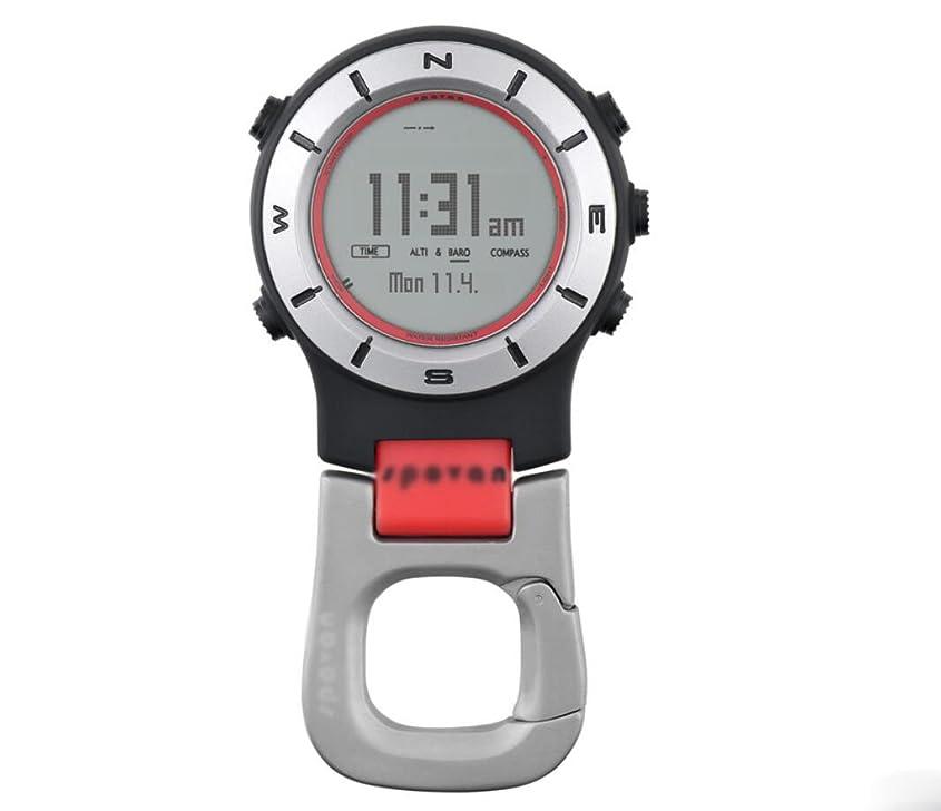 速報不振安全でない多機能屋外スポーツハンドヘルド時計バロメータ高度計温度計コンパス