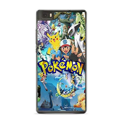 Coque pour Huawei P20 Lite Pokemon go Team Pokedex Pikachu Manga Tortank Game Boy Color Salameche Noctali Valor Mystic Instinct Case + Stylet + Lingette de Nettoyage Ecran 29
