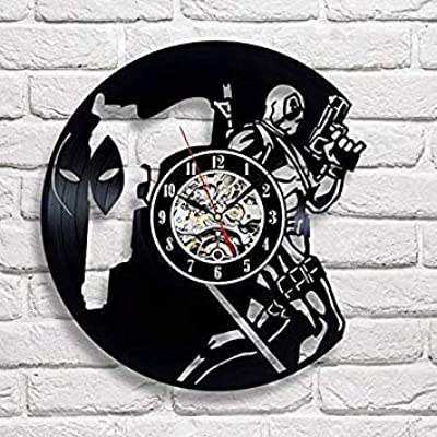 DEADPOOL HAND Vinyl Clock Marvel Wall Art Home Decor Record Wall Clock Superhero Comics Decorations Vintage