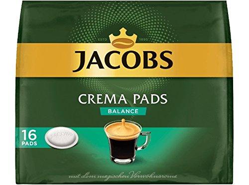 Jacobs Kaffeepads Crema Balance, 16 Senseo kompatible Pads für 16 Getränke