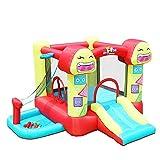qazxsw Children's Inflatable Playground Indoor Garden Children's Castle Inflatable Play Fence Children's Slide Inflatable Trampoline Summer Children's Playground