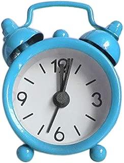Fan-Ling 1PCS Alarm Clock,Creative Cute Mini Metal Small Alarm Clock Electronic Small Alarm Clock,Designed exquisitely, Durable (Blue)