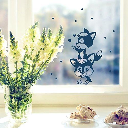 Fensterbild Wandtattoo Fuchs Füchse M1799 ausgewählte Farbe: *milchglas* ausgewählte Größe: *M*