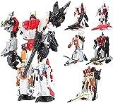SQHGFFF Transformers Cyberverse, 5In1 Combinadores de la superion deformación Figura de la acción del automóvil Regalo de Juguete - 11 Pulgadas Decepticon Blackout Action Figura (Color : 5 in 1 Set)