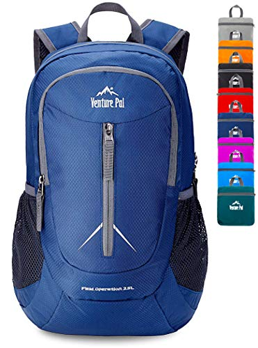 Venture Pal 25L - Durable Packable Lightweight Travel Hiking Backpack Daypack Small Bag for Men Women(Navy)