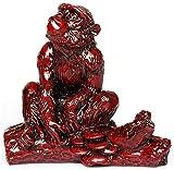 XYSQWZ Estatuas De Resina Roja Guardián Decoración De Feng Shui para El Hogar Y La Oficina Atraen Riqueza Y Buena Suerte Felicitación De Inauguración Serpiente