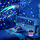 FreshDcart FDC89 LED Night Light Moon 360 Degree Rotation 4 LED Bulbs 9 Light Colour Changing With USB Cable, Multicolour, Round