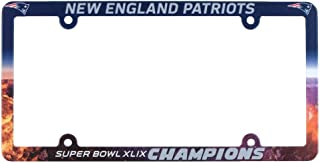 New England Patriots Official NFL 12 inch x 6 inch Super Bowl 49 Champions Plastic License Plate Frame by Wincraft