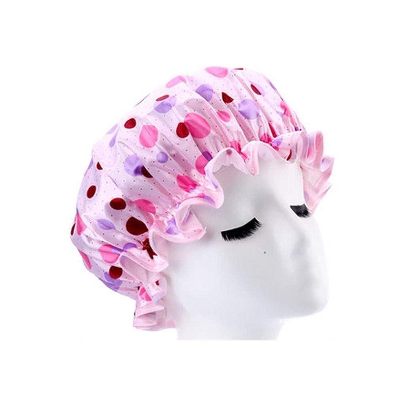 下位アイザックアスレチックSMXGF シャワーキャップ、女性のすべての髪の長さと厚さに適しレディースシャワーキャップデラックスシャワーキャップ - 防水やカビ耐性、再利用可能なシャワー。 (Color : 2)