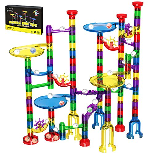 Magicfly Marble Run Set, 127 Pcs Marble Race Track for Kids with Glass...