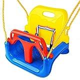 Asiento de columpio 3 en 1 para niños pequeños, juego colgar desmontable - con...