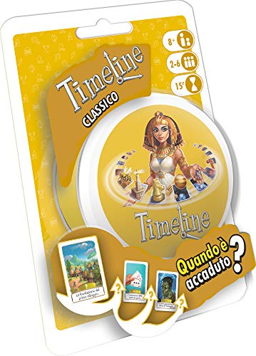 Asmodee- Timeline Classico-Gioco Tascabile-Edizione Italiana, Colore, 8302