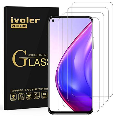 ivoler 4 Stücke Panzerglas Schutzfolie für Xiaomi Mi 10T / 10T Pro / 10T Lite/Xiaomi Poco X3 Pro / X3 NFC/Redmi Note 9S / Redmi Note 9 Pro, 9H Festigkeit Panzerglasfolie, Anti-Kratzen, Anti-Bläschen