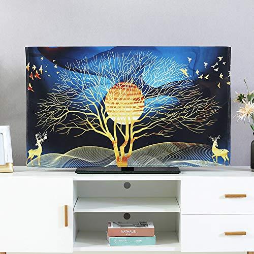 catch-L Cubierta De TV LCD Patrón Dorado Cubierta De Polvo Cubierta Decorativa Cubierta Cubierta Antipolvo (Color : Gold Leaf Tree, Size : 40-43inch)