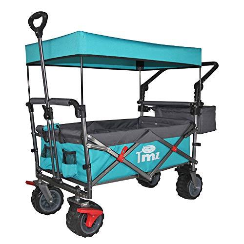 cheap TMZ All Terrain Utility Wagon, Canopy, Folding Garden Trolley, Folding Trolley, …