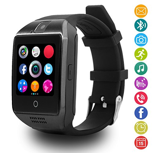 Smartwatch Android, LATEC Bluetooth Smart Watch supporta SIM card e fotocamera, orologio da polso intelligente sportivo con pedometro Monitor del sonno Chiama SMS Facebook Whatsapp Nota