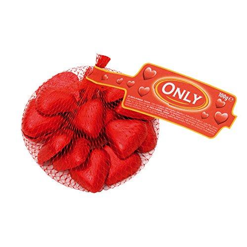 Fein schmelzende Schokolade Herzen, im 100g Netz von Only
