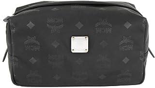 MCM Women's Black Monogram Nylon Cosmetic Bag Pouch MXZ7ADT43BK001