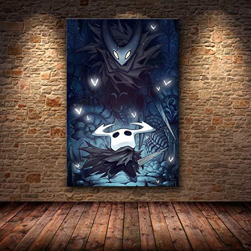 mmzki Juego Pintura al óleo Dibujos Animados Pintura al óleo Caballero Pintura al óleo Cartel Pintura Decorativa Mapa HD Pintura al óleo Cartel Arte de la Pared Lienzo