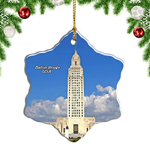 Weekino USA America Baton Rouge Capitol Building Louisiana Christmas Ornament Travel Souvenir Tree Hanging Pendant