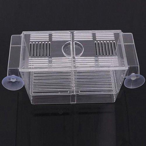 Yinong S/M Ablaichkasten aus Plexiglas Fischzucht Isolation Box (12 x 7 x 7cm)