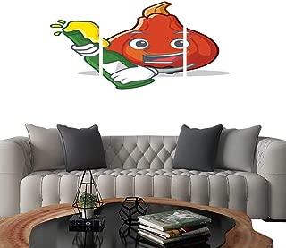 UHOO Triptych Art SetWith Beer red kuri Squash Mascot Cartoon. Modern Wall Art for Living Room Decoration 20