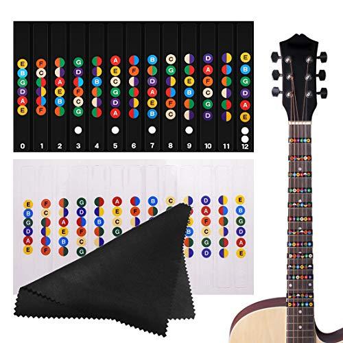 Etiquetas de Guitarra Notas Pegatina, Pegatinas para Tabla d