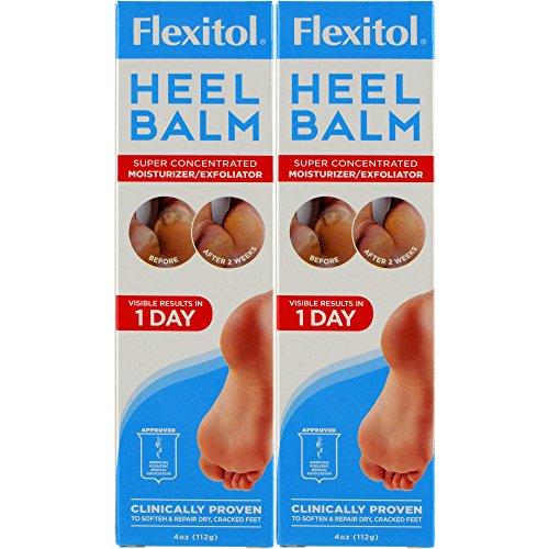 Flexitol Heel Balm Rich Moisturizing amp Exfoliating Foot Cream 4 Oz Tube Pack of 2