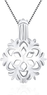 Pearl NOT Included Silver Plated Moose Deer Pearl Cage Pendant with 20 925 Sterling Silver Chain