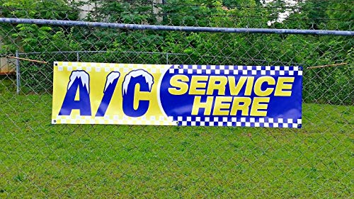 AC Service HERE Banner (6ft X 18 inches) Open Sign Display Auto Repair Shop Mechanic Car Truck Service Photo #7