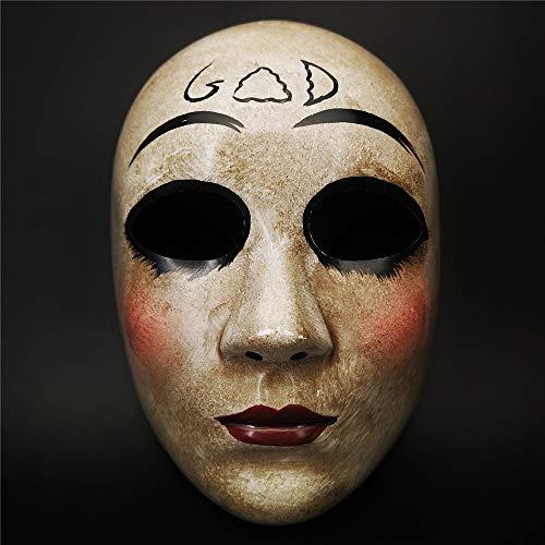 CCUFO Horror Killer Purge Masks, The Purge Anarchy Movie, Fiesta de disfraces de Halloween, se adapta a la mayoría de los adultos (máscaras de Dios)