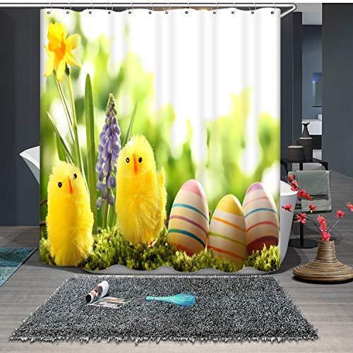Shower Curtain Cortina de Ducha con Motivo Estampado Anillo de Diamantes designado como Punto Brillante 150*180cm para decoración de baño Impermeable Y Fácil De Limpiar. Impresión 3D HD. Gancho