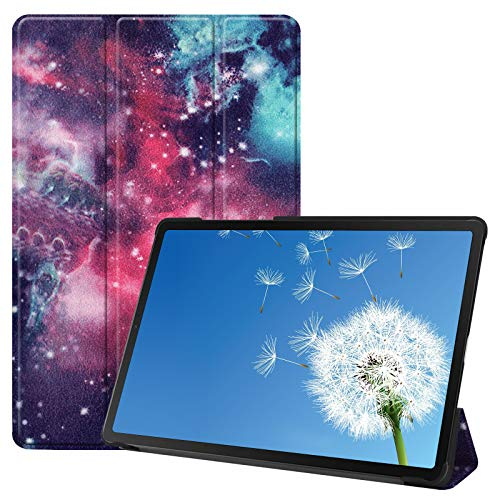 Tri-Fold Stand Case for Samsung Galaxy Tab A7 2020 10.4 T870/T875/T876B, SKYXD [Auto Wake/Sleep] Colorful Design Lightweight Slim Fit PU Leather & Hard PC Tablet Protective Cover, Galaxy
