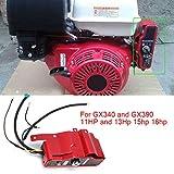 AUNMAS Interruptor de Encendido eléctrico y Caja de Control de Panel de 2 Llaves para Honda GX340 GX390 11HP 13HP Engine