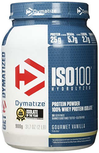 Dymatize ISO 100 Gourmet Vanilla 900g - Whey Protein Hydrolysat + Isolat Pulver