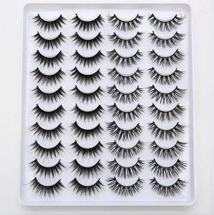 8/20 Pairs 15-20mm Natural 3D False Eyelashes Fake Lashes Makeup Kit Mink Lashes Extension Mink Eyelashes Maquiagem Eye Makeup (IDSG207)