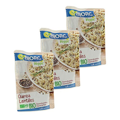 Bjorg Quinoa Lentilles Bio - 250 g - Lot de 3 doypacks