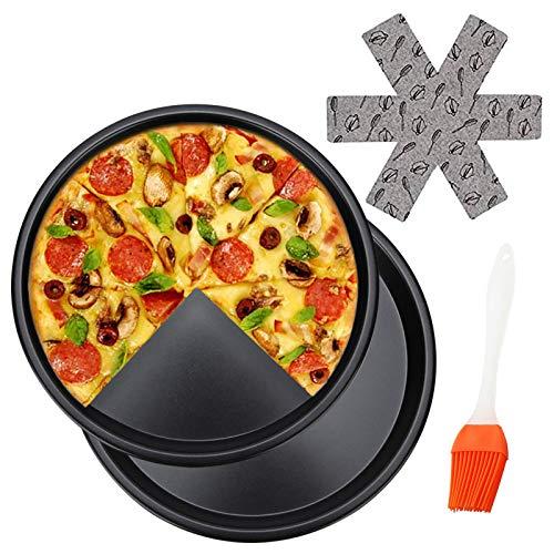 Sartén de pizza de 25,4 cm, bandeja redonda para hornear pasteles y...