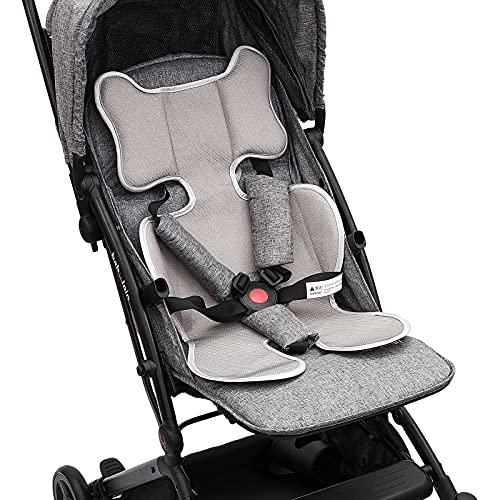 Luchild Atmungsaktive Sommer Sitzeinlage, Sitzauflage für Kinderwagen, Buggy und Kindersitz - Kühlt und schützt den Sitzbezug vor Flecken (Dunkel grau)