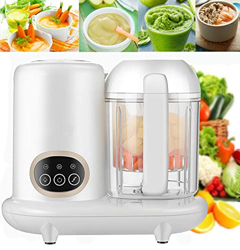 KGK Baby Food Maker All in One Baby Food Processor Steam Cooker&Blender Baby Food Steamer and Blender for Organic Homemade Food Baby Food Mills Machine with Timer Control Mini Baby Food Blender Puree