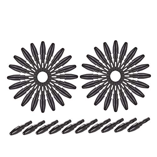 Aibecy 50pcs Puntas de repuesto de plumillas de pluma para M708 Gráficos Dibujo Tablet Stylus Negro