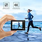 AKASO Brave 4 4K 20MP WiFi Action Camera Ultra HD with EIS 30m Underwater Waterproof Camera Remote Control 5X Zoom… 10 UPGRADE SERIES OF AKASO EK7000: Featuring 4K/24fps, 2K/30fps and 1080P/60FPS video resolution and 20MP photos, AKASO Brave 4 action camera enables you to take incredible photos and ultra HD videos, clearly recording the beauty and wonders in life! OPTIONAL VIEW ANGLE AND ANTI-SHAKING: Adjust the view angle of this action camera according to your needs between 170°, 140°, 110°, and 70°. Built in smart gyroscope for anti-shaking and image stabilization to make your video much more smooth. SPORTS CAMERA WITH WIFI AND HDMI: Sharing & editing videos from an action camera is easier with the free app. Just download the App on your phone or tablet and connect with this action camera. Wi-Fi signal ranges up to 10 meters. With HDMI Port allows you to connect it with television.