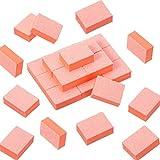 150 Pieces Mini Nail Sanding Blocks Nail Buffer Blocks Nail Buffing File Polisher Double Sided Grit Manicure Nail Tips Tool for DIY Nail Art (Orange)