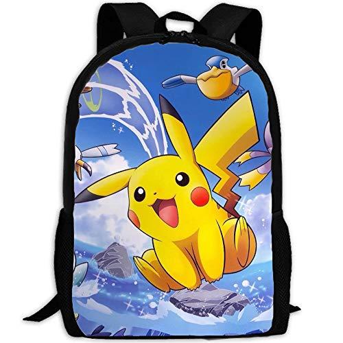 XWXBB Detective Pikachu - Mochila escolar, diseño de Pokémon, A03, Grundschule 1-3,