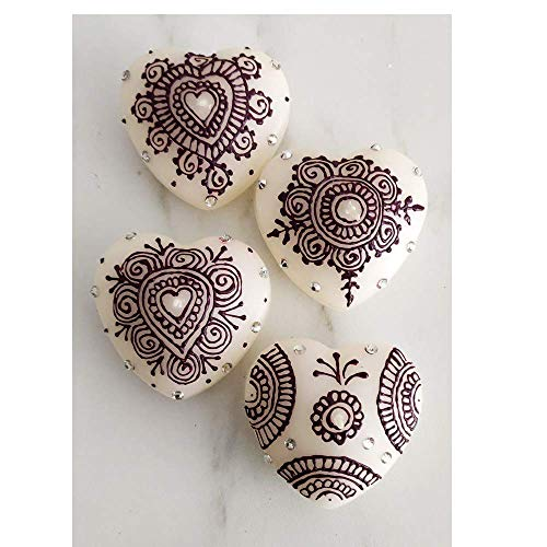 A1 Craft Heart Shaped Floating Candle Christmas,Diwali and Wedding Decor-Pack 4