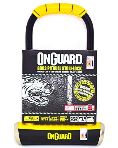 ONGUARD Pitbull STD 8003 Bike U Lock - Sold Secure Gold